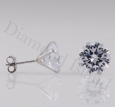 2.5 Ct Solid 14K White Gold Martini Round Brilliant Cut Solitaire Earrings Studs
