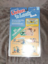 LISTEN N AND LOOK HASBRO HARDCOVER BOOK & TAPE RICHARD SCARRY ALL YEAR LONG NEW