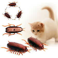 1 Funny Electronic Vibration Battery Cockroach Cat Interactive Training Play Toy