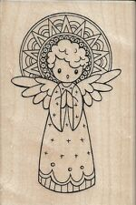 """Singing Angel"" Rubber Stamp by Stampendous"