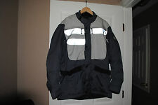 BMW VENTED JACKET WITH LINER, SIZE XL AND PANTS COVER SIZE L, EXCELLENT COND