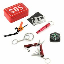 Outdoor Survival Emergency Equipment SOS Kit Fire-stone Fretsaw Car Repair Tool