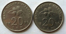 Second Series 20 sen coin 1990 2 pcs