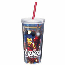 AVENGERS ASSEMBLE-16 OZ. CHILLER CUP WITH STRAW