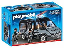 PLAYMOBIL 6043 CITY ACTION POLICE VAN with LIGHTS & SOUNDS *NEW : SEALED BOX*