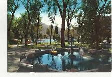 84184 rara cartolina di mandello lario lago di como i giardini 1966