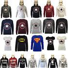 New Womens Ladies Converse Print Hooded Sweatshirt Printed Hoodies Jumper Top