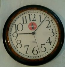 Vintage Burwood Products Coca Cola Quartz Plastic Wall Clock Made in USA