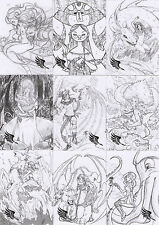 Braiiinz Beauty & The Myth 31 Card Female Artist Concept Sketch Art Chase Set