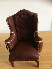 1/12th Scale Dolls House Wing Back Chair