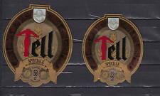A69  Ancienne étiquette Bière Alcool France / Suisse Tell