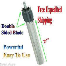 "3/8"" Double Sided Rotary Spot Weld Cutter Bit Sheetmetal Tack Remover Drill"