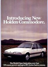 1986 HOLDEN VL COMMODORE 8 Page Brochure Folder NISSAN 6 SL EXECUTIVE BERLINA