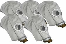 5pcs Soviet Civilian/Military  Gas Mask GP-5 grey rubber. Lot of 5 masks. New