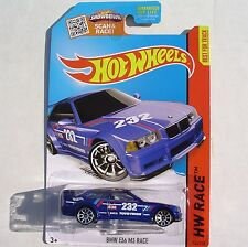BLUE BMW E36 M3 Race Car. HW Race ~ 2015 169/250. CFK90. New in Blister Pack!