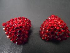 Bellini Formart Heart Earrings Red Crystal