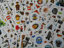 10 Mini Packs of Lego Mini Figure Stickers Childrens Party Bag Fillers