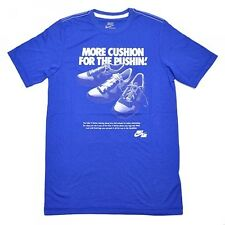NIKE MORE CUSHION FOR THE PUSHIN T SHIRT SM S SMALL AIR V SERIES SLIM FIT BLUE