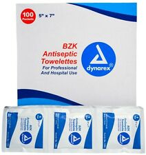 "BZK Antiseptic Hand Wipe Sanitation Towelettes 5"" x 7"" (200 Pads) - MS60700"
