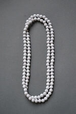 """Good Wood Hiphop Unisex Plain Natural Wood Beads Chain Wooden Necklace, 35""""Long"""