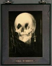"ALL IS VANITY 11x14"" Poster Optical Illusion Skull & Mirror Surrealism Art Print"