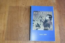 Bryan Ferry / TOUR ITINERARY / As Time Goes By Tour April 2000 ROXY MUSIC