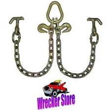 G70 WRECKER TOW TRUCK V CHAIN BRIDLE with HAMMERHEAD for ROLLBACK, CAR CARRIER