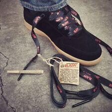 RAW rolling papers Brand SHOE LACES with CONE/Pipe POKER TIPS ON THE ENDS