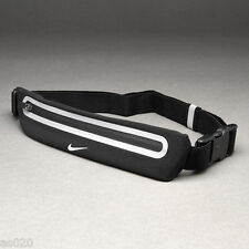 Nike Lean Running Waistpack Expandable Reflective Sports Bumbag Belt - BLACK