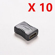 10x Hdmi Female to Female F/F Coupler Extender Adapter Connector for HDTV 1080P