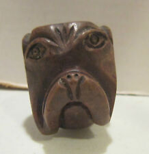 Vintage Marxman imported Briar hand carved pipe - Dog Head - Made U.S.A.