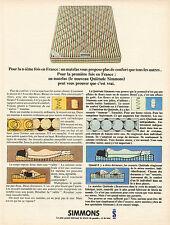 Publicité 1966  Matelas SIMMONS