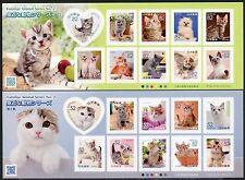 Japan 2016 Katzen Cats Haustiere Pets Kleinbögen ** MNH