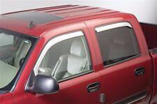 Chrome Trim Window Visors Fits 2009-2017 Dodge RAM 1500 Quad Cab (SET OF FOUR)