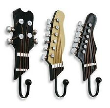 "Guitar Wall Hooks - Resin Miniature - 3"" x 7 1/2"" - Pack of 3"
