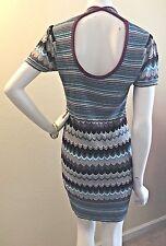 MISSONI TARGET geometric zig-zag Print Short Sleeve Tunic Dress M-L VGUC