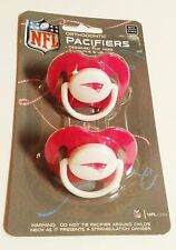 NEW ENGLAND PATRIOTS Pink 2-pack Infant Pacifiers NFL FOOTBALL BABY SHOWER GIRL