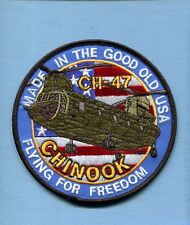 BOEING CH-47 CHINOOK HELICOPTER US ARMY Aviation Unit Squadron Jacket Patch