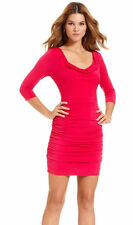 Guess Pink Three-Quarter-Sleeve Ruched Cowl-Neck Cocktail Dress.NWT Sz.0