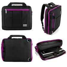 Backpack Messenger Bag for HP ENVY 17.3-Inch Lenovo Y70 17.3 Laptop Black/Purple