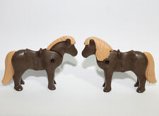 Playmobil 2  Dark Brown Small Ponies - Horses