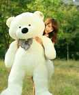 GIANT 100CM BIG CUTE PLUSH TEDDY BEAR HUGE Beige SOFT 100% COTTON TOY Dolls