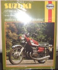 Haynes Workshop Manual for SUZUKI T GT  GT380 & GT550 1972 to 1975