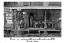 Dorothea Lange COUNTRY STORE ON A DIRT ROAD Photo Poster 24x36 GORDONTON NC