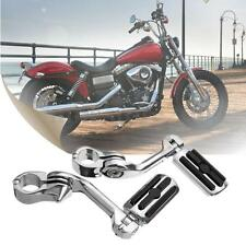 Pair Chrome 1.25'' 3.2cm Adjustable Long Foot Pegs Pedals For Harley-Davidson