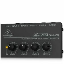Behringer MX400 Micromix Low Noise 4 Channel Mono Line Mixer