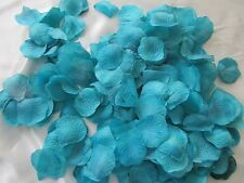 1000 TEAL BLUE GREEN  WEDDING  ARTIFICIAL  SILK  ROSE PETALS WEDDING