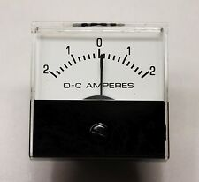 Jewel MS1T +/- 2 AMP DC ANALOG PANEL METER - New Old Stock