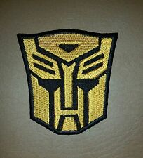 Transformer Autobot Golden & Black Logo Movie, Embroidered Patch/ Badge