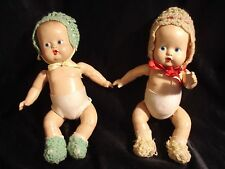 """Vintage......Twins......10"""" Composition Baby Dolls"""
